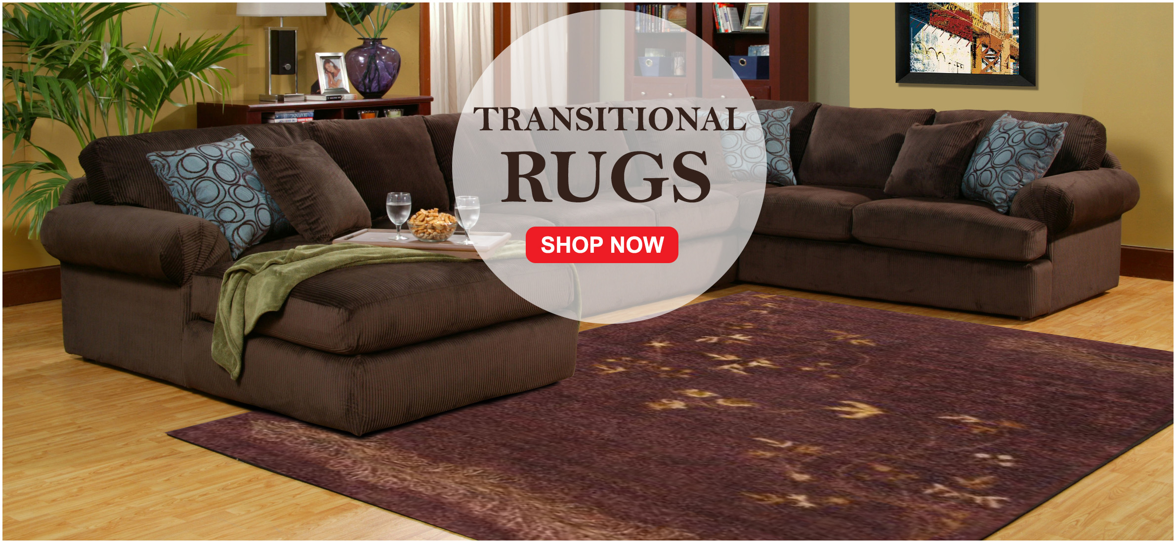 Transitional Floor Rugs Give Your Home A Clic Look