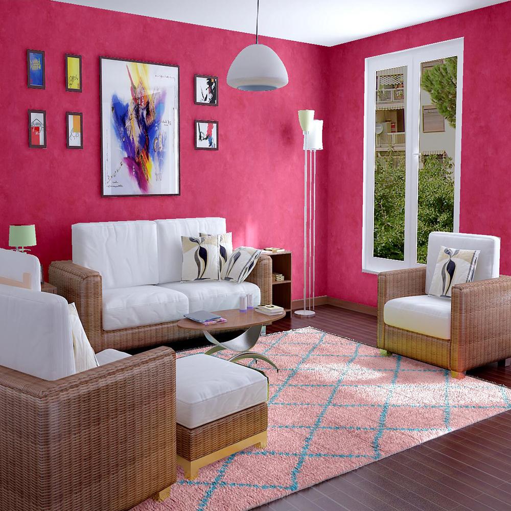 Moroccan Beni Ourain Wool Pink Rug