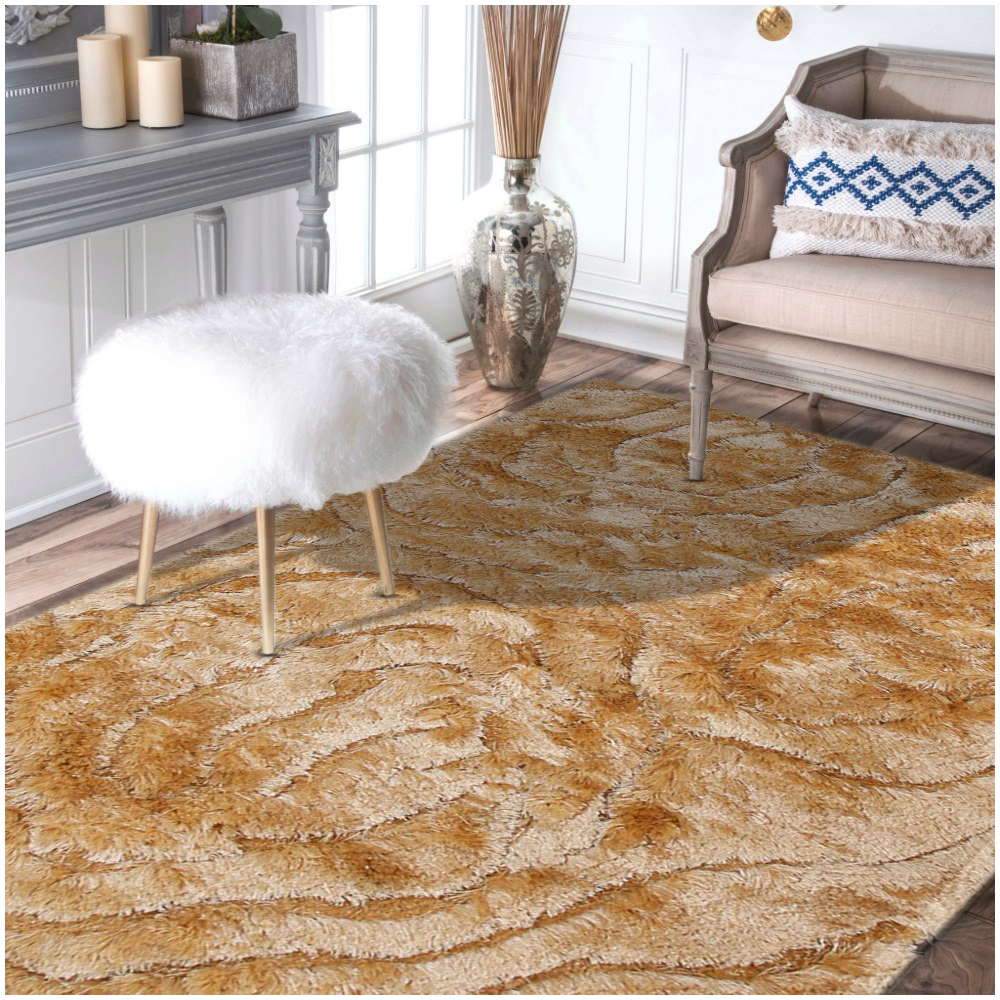Rugsville Smooth And Rich Beige Shag Rug